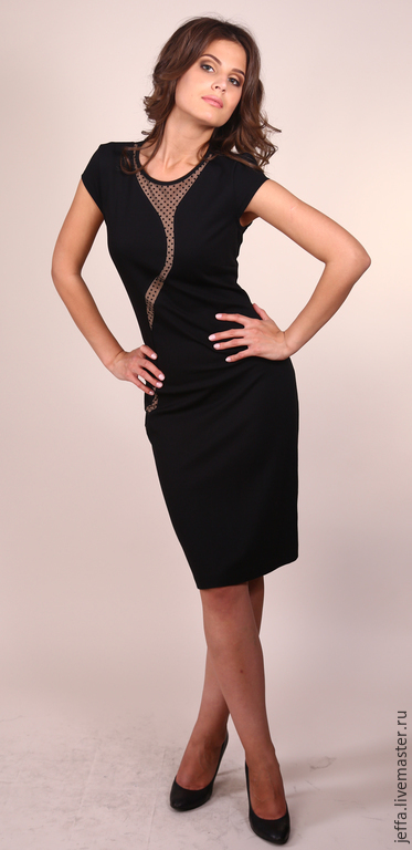 Платья ручной работы. Ярмарка Мастеров - ручная работа. Купить Платье арт.5340. Handmade. Черный, офисный стиль
