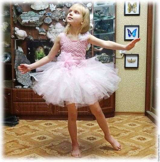 """Одежда для девочек, ручной работы. Ярмарка Мастеров - ручная работа. Купить Наряд для девочки """"Снежинка"""". Handmade. Бледно-розовый"""