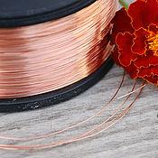 Материалы для творчества handmade. Livemaster - original item 0,4 mm; copper wire. Handmade.