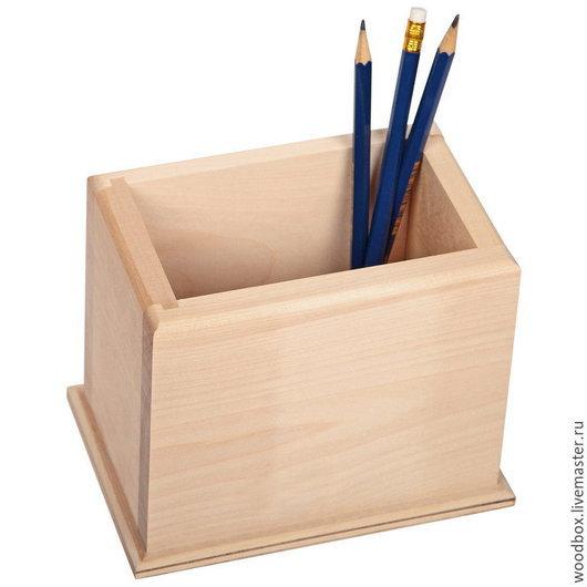 Карандашницы ручной работы. Ярмарка Мастеров - ручная работа. Купить Ш151012 Заготовка карандашница под декупаж деревянная. Handmade. Органайзер
