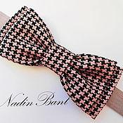 Аксессуары handmade. Livemaster - original item Tie Pink Goose foot. Handmade.