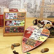 Для дома и интерьера handmade. Livemaster - original item Mini chest of drawers and a heart. Handmade.