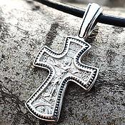 Украшения handmade. Livemaster - original item The cross Jesus and the virgin. Silver 925 art. One million eleven thousand three hundred five. Handmade.