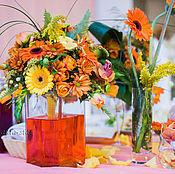 """Свадебный салон ручной работы. Ярмарка Мастеров - ручная работа Оформление свадьбы  цветами, """"Ораньжевое настроение"""". Handmade."""