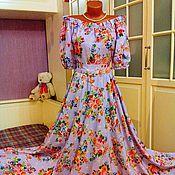 Одежда ручной работы. Ярмарка Мастеров - ручная работа Штапельное платье в пол Лиловая мечта. Handmade.