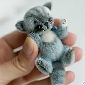 Куклы и игрушки ручной работы. Ярмарка Мастеров - ручная работа Полосатый котик Васька. Handmade.