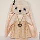 Мишки Тедди ручной работы. Зайка Ника. Irene Gromi (Teddy Art Boutique). Ярмарка Мастеров. Зайка в платье