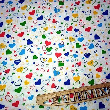 Материалы для творчества ручной работы. Ярмарка Мастеров - ручная работа Фланель Сердечки, 95 см. Handmade.