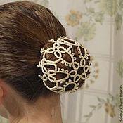 """Украшения ручной работы. Ярмарка Мастеров - ручная работа сеточка для волос """"Юная балерина"""". Handmade."""