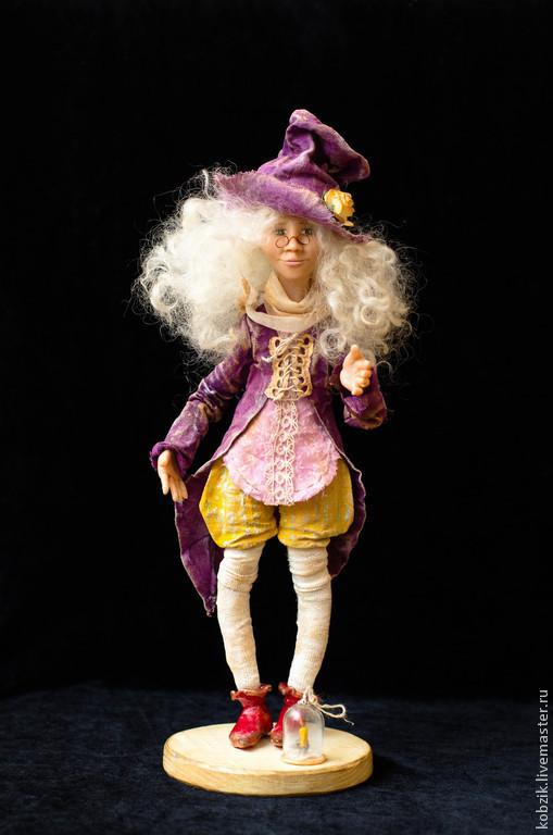 Коллекционные куклы ручной работы. Ярмарка Мастеров - ручная работа. Купить Ганс. Handmade. Фиолетовый, интерьерная кукла, проволочный каркас