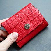 Сумки и аксессуары handmade. Livemaster - original item Compact mini wallet genuine leather red art. 459. Handmade.