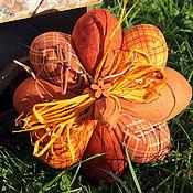 Для дома и интерьера ручной работы. Ярмарка Мастеров - ручная работа Текстильная тыква яркая. Handmade.