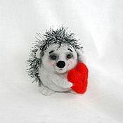 """Куклы и игрушки ручной работы. Ярмарка Мастеров - ручная работа Ёжик """"Слушай своё сердце"""". Handmade."""
