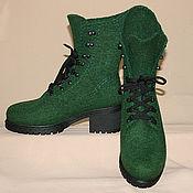 handmade. Livemaster - original item Women`s felt boots Spruce. Handmade.