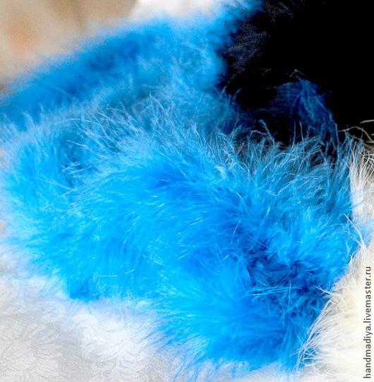 Шитье ручной работы. Ярмарка Мастеров - ручная работа. Купить Боа из пуха, цвет голубой. Handmade. Голубой, пух