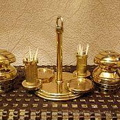 Для дома и интерьера ручной работы. Ярмарка Мастеров - ручная работа Солонка, перечница, для зубочисток из латуни. Handmade.