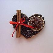 Сувениры и подарки ручной работы. Ярмарка Мастеров - ручная работа Магнит кофейное сердце. Handmade.