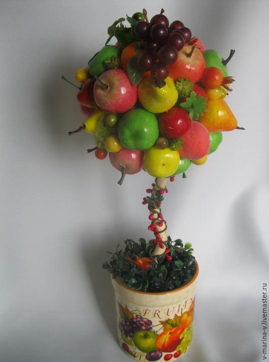 Деревья ручной работы. Ярмарка Мастеров - ручная работа. Купить Августин - фруктовый рай. Handmade. Топиарии, яблоко, настроение, интерьер