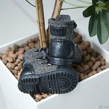 Footwear handmade. Livemaster - original item Felted boots for boys Superman. Handmade.