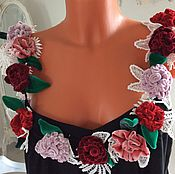 Одежда ручной работы. Ярмарка Мастеров - ручная работа Топ С бархатными розами.. Handmade.