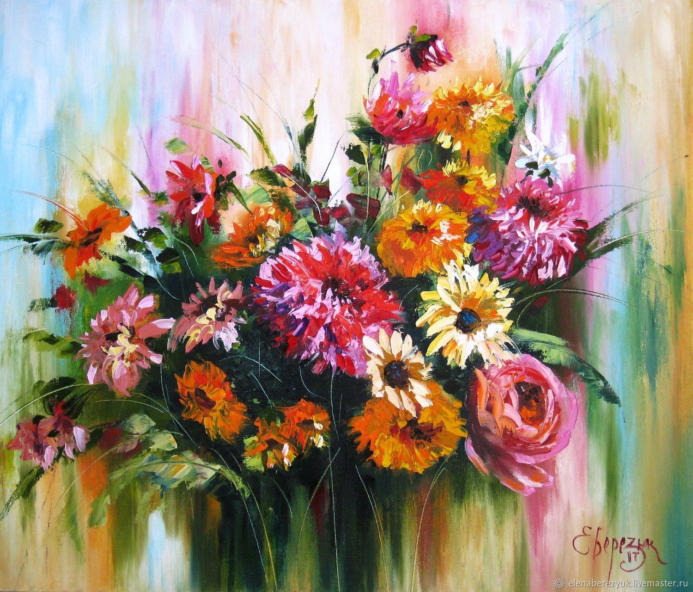 Autumn Bouquet Oil Painting Palette Knife On Canvas Rose Gerhins Zakazat Na Yarmarke Masterov Damolcom Kartiny Petrozavodsk