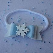 Работы для детей, ручной работы. Ярмарка Мастеров - ручная работа Повязка для волос Искристая снежинка. Handmade.