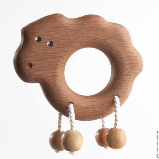 """Развивающие игрушки ручной работы. Ярмарка Мастеров - ручная работа. Купить Погремушка-грызунок """"Ягненок"""". Handmade. Коричневый, развивающие игрушки"""