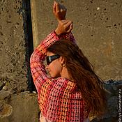 Одежда ручной работы. Ярмарка Мастеров - ручная работа Болеро вязаное крючком  Полоски в стиле лета. Handmade.