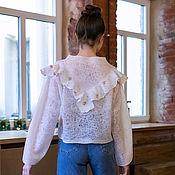 Одежда handmade. Livemaster - original item Felted sweater with ruffles. Handmade.