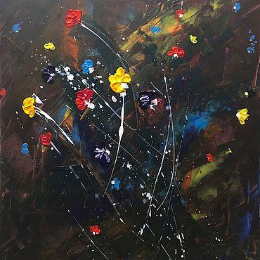 Картины и панно ручной работы. Ярмарка Мастеров - ручная работа Картина «Благоухание в ночи». Handmade.