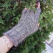 Аксессуары handmade. Livemaster - original item Fingerless gloves down Women`s stuff. Handmade.