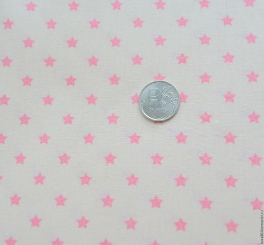 Шитье ручной работы. Ярмарка Мастеров - ручная работа. Купить Хлопок Sternchen розово-сливочный, Германия. Handmade. Ткань для кукол