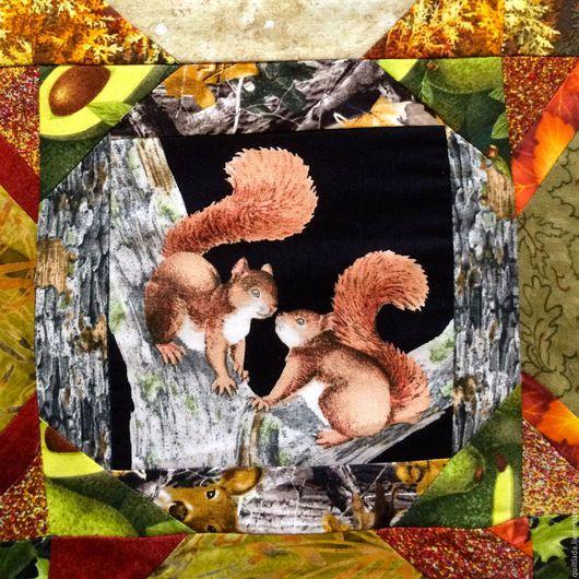 Текстиль, ковры ручной работы. Ярмарка Мастеров - ручная работа. Купить Обитатели   леса. Handmade. Детское, лоскутное покрывало, животные