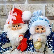 Тедди Долл ручной работы. Ярмарка Мастеров - ручная работа Тедди Долл:  Новогодние мышки. Handmade.