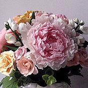 """Цветы и флористика handmade. Livemaster - original item Букет"""" Благоуханные пионы"""" - интерьерный букет с пионами,розами,жасмин. Handmade."""