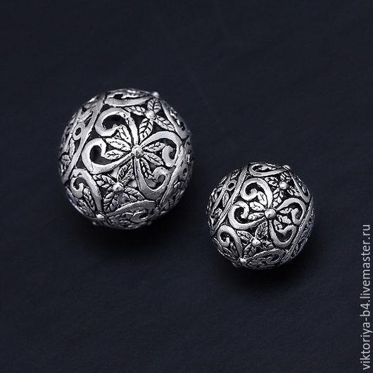 Для украшений ручной работы. Ярмарка Мастеров - ручная работа. Купить Бусина серебро 925 пробы 2 размера. Handmade.