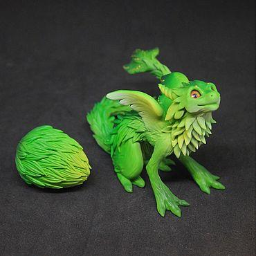 Куклы и игрушки ручной работы. Ярмарка Мастеров - ручная работа Травяной дракончик. Handmade.
