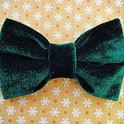 Аксессуары handmade. Livemaster - original item Tie Green Velvet. Handmade.