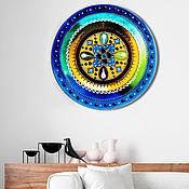 Картины и панно handmade. Livemaster - original item Round interior painting of the Mandala
