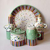 """Посуда ручной работы. Ярмарка Мастеров - ручная работа Набор для кухни """"Позитив"""". Handmade."""