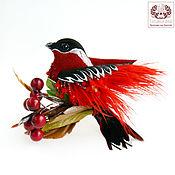 Украшения handmade. Livemaster - original item Bird - brooch made of leather