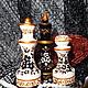 Классические чёрно-белые шахматы с золотом, рисунок на шахматах, купить шахматы в подарок, подарок учителю, подарок школьнику, купить шахматы в Петербурге,чёрное на белом,шахматы купить