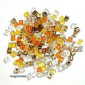 Материалы для творчества handmade. Livemaster - original item 10gr seed Beads Miyuki 3 mm cube mix 22 honey Japanese seed beads Miyuki. Handmade.