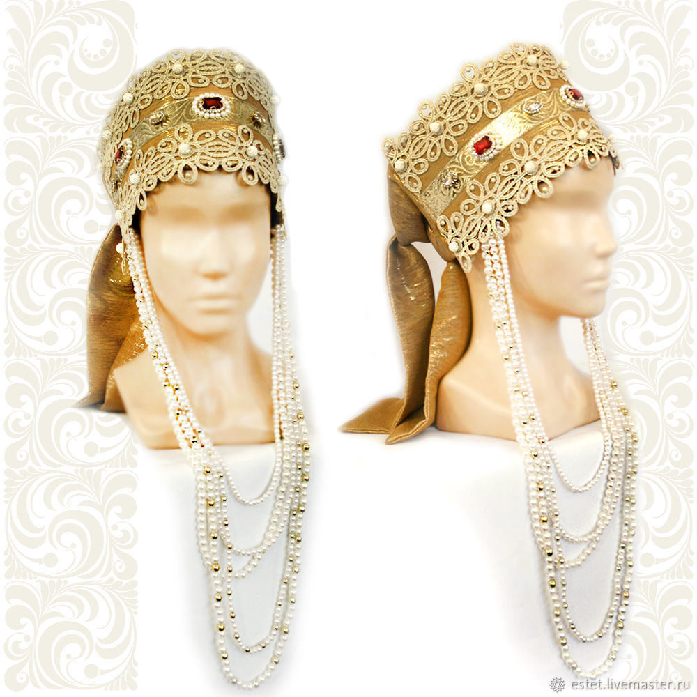Copy of Slavic headpieces Selena, Kokoshnik, Russian crown, Kokoshnik, Korolev,  Фото №1