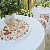 Для дома и интерьера handmade. Livemaster - original item Set table linen white linen and cotton lace Shabby chic. Handmade.