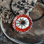 """Украшения ручной работы. Ярмарка Мастеров - ручная работа """"Тропикана"""", подвеска, керамика ручной работы. Handmade."""