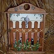 """Для дома и интерьера ручной работы. Ярмарка Мастеров - ручная работа Ключница """"Кошачья жизнь"""". Handmade."""