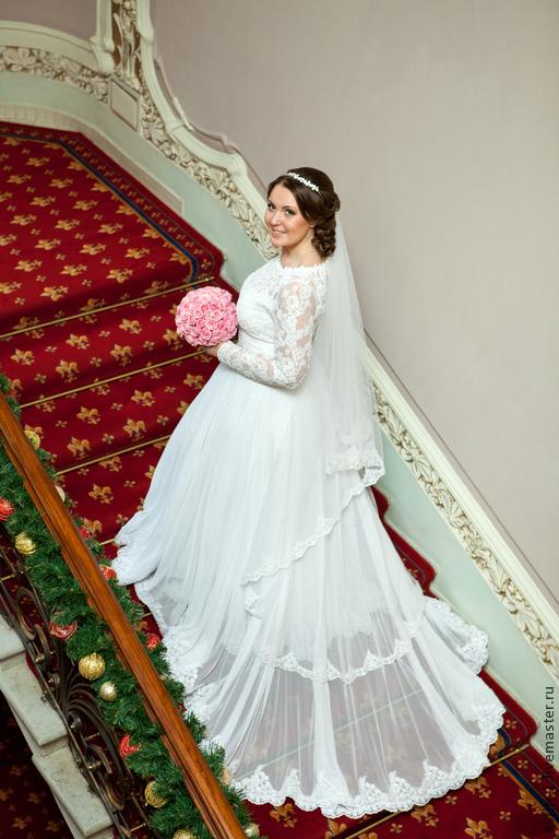 Свадебное платье ручной работы. Платье для настоящей принцессы.