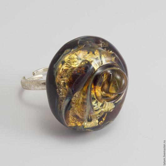 """Кольца ручной работы. Ярмарка Мастеров - ручная работа. Купить Кольцо  """"Вихрь"""", авторский лэмпворк.. Handmade. Золотой, ring, скидка"""