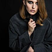 Одежда ручной работы. Ярмарка Мастеров - ручная работа SS2017 Темно-серое пальто-кокон. Handmade.